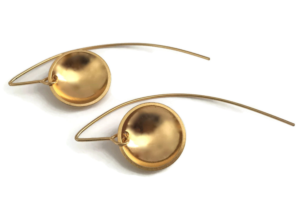 Concave Earrings - Smooth, Swoopy