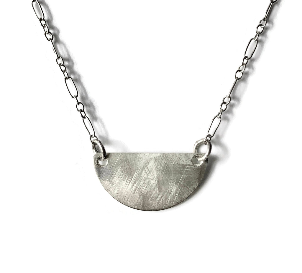 Horizon Half Moon Necklace, Sunrays