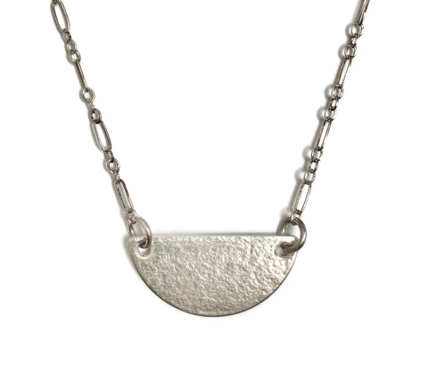 Horizon Half Moon Necklace, Clouds