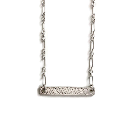 Barred Necklace - Reversible, Horizontal