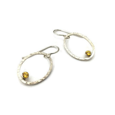 Oval+Facet Earrings