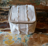 Linen Dopp kits toiletry bags