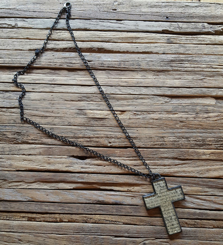 Scripture Cross Necklace