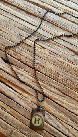 R pendant necklace