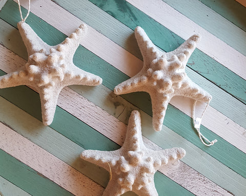 White starfish ornament decor