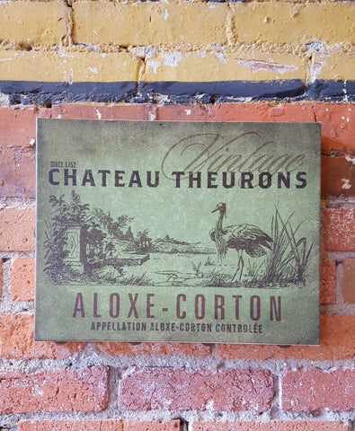 Vintage Chateau Theurons Wrapped Canvas