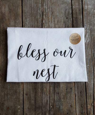 Bless Our Nest Tea Towel