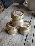 Dandles Candles 5 oz mason jar hand poured soy candle cedar and saffron