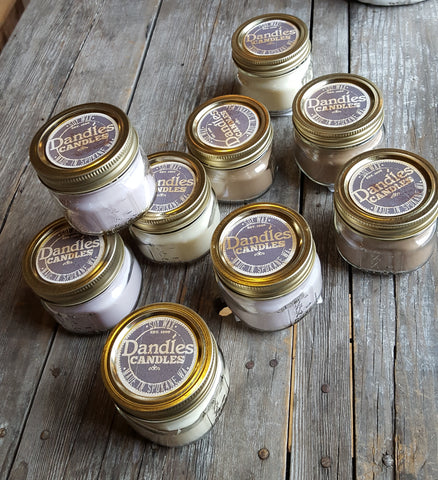 Dandles Candles 5 oz mason jar hand poured soy candle