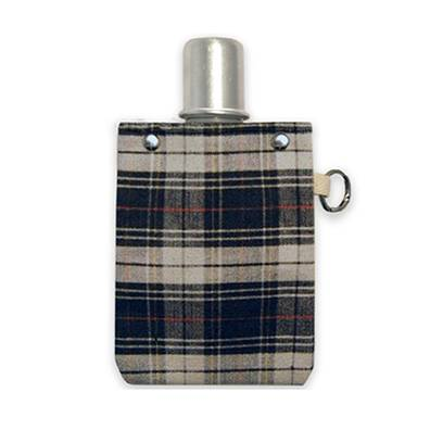 4 oz Red and Black Plaid Flask