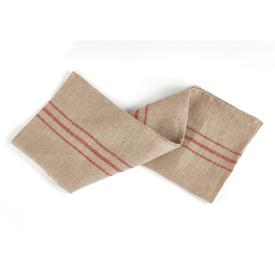brasserie tea towel linen and red ticking stripe