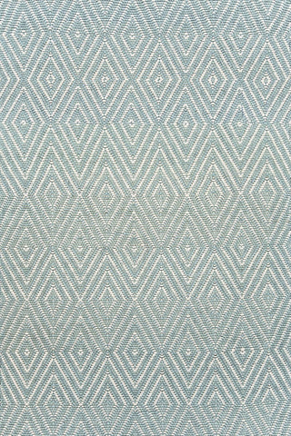 Petit Diamond Light Blue and Ivory Indoor/Outdoor Rug (2' x 3')