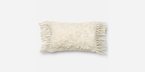Hand Woven Ivory Pillow