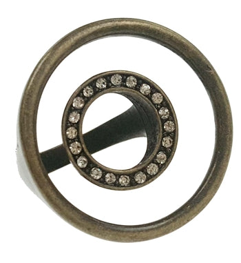 Antique Bronze Concentric Circles Ring