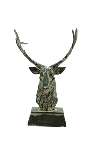 Distressed Gray Stag Head