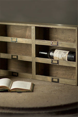 Wine Box with Metal Tags