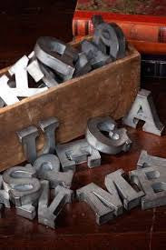 Small Zinc Letters and Numbers
