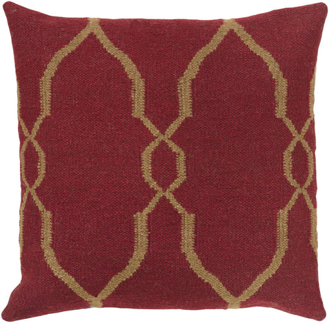 dark red wool throw pillow