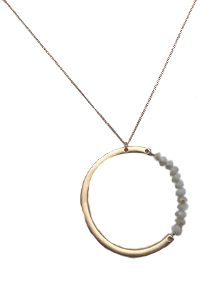 necklace silver w products circle a ring end and like our love will gold never