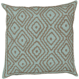 Aqua linen throw pillow