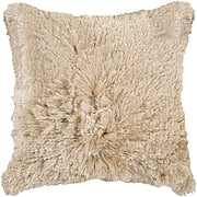 Tan Shag Pillow