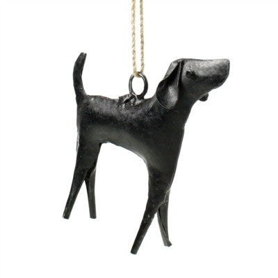 Reclaimed metal dog ornament