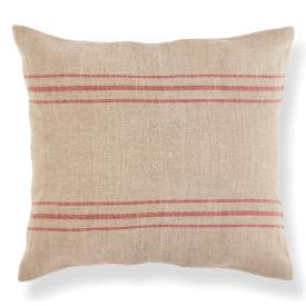 Red Ticking Throw Pillow