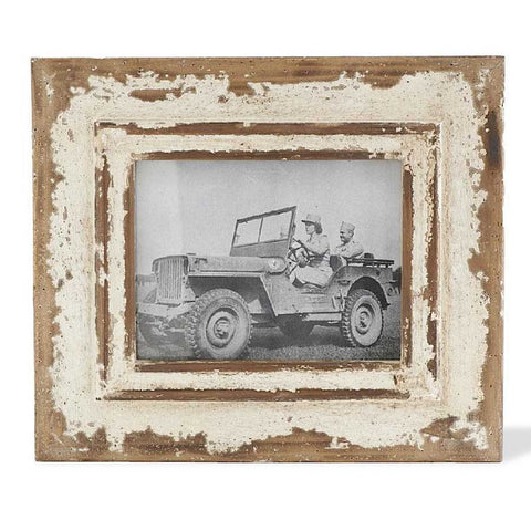 Distressed White Wood Frame