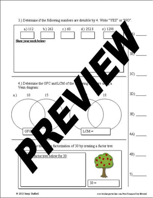 6.NS Assessment (Number Sense)
