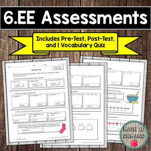6.EE Assessment (Expressions & Equations)