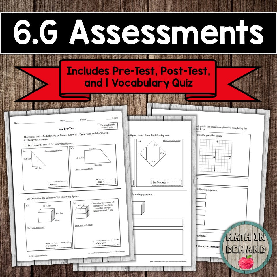 6.G Assessment (Geometry)