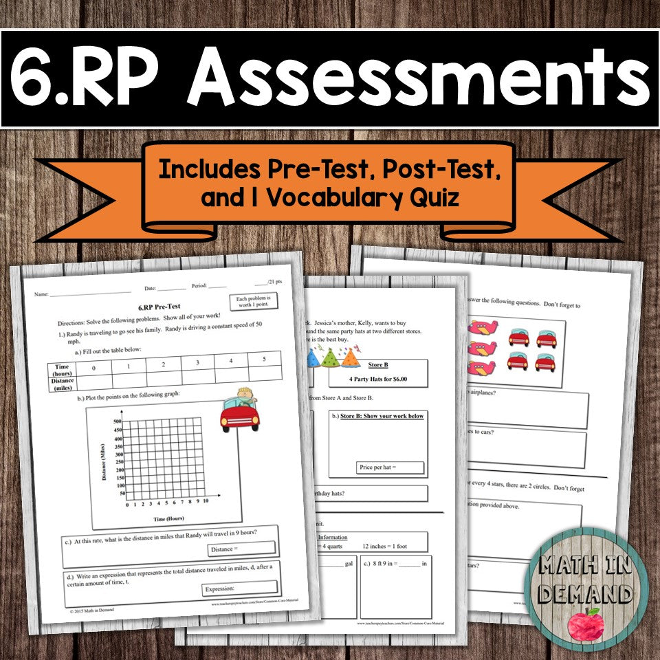 6.RP Assessment (Ratios, Rate, & Percentages)