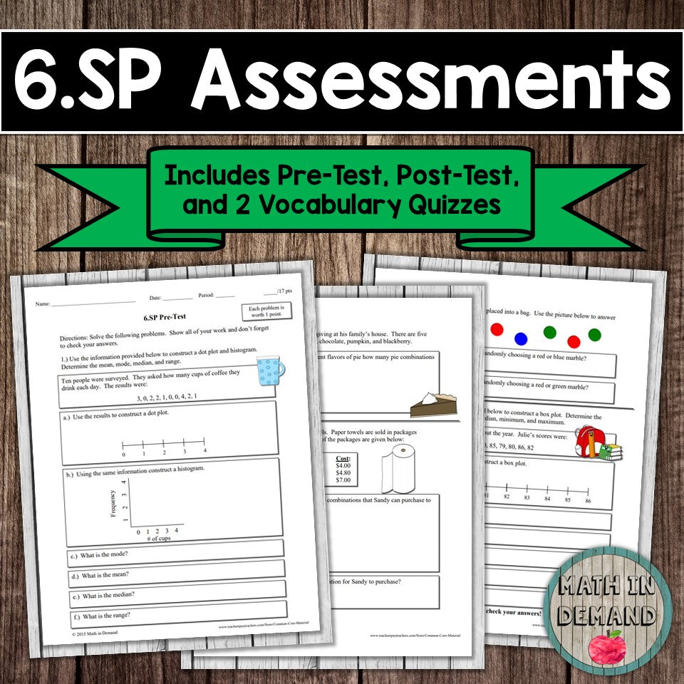 6.SP Assessment (Statistics & Probability)