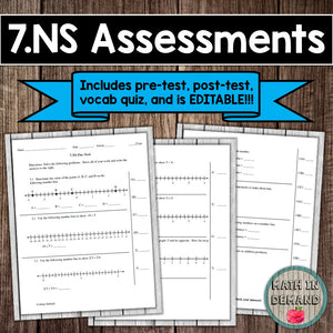 7.NS Assessment (Number Sense)