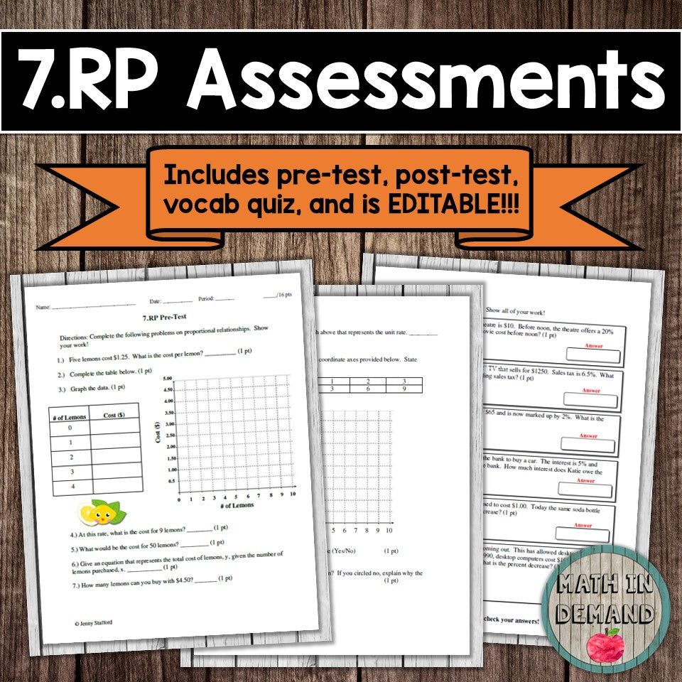 7.RP Assessment (Proportional Relationships)