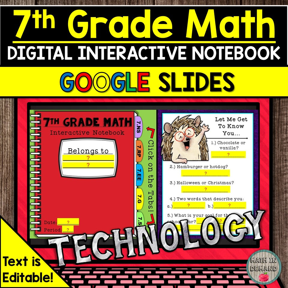 7th Grade Math Digital Notebook