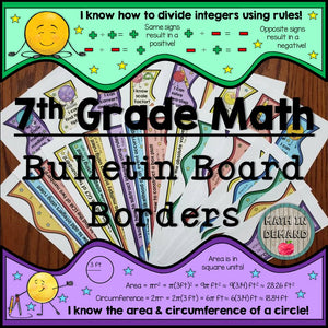 7th Grade Math Bulletin Board Borders