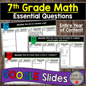 7th Grade Math Essential Questions