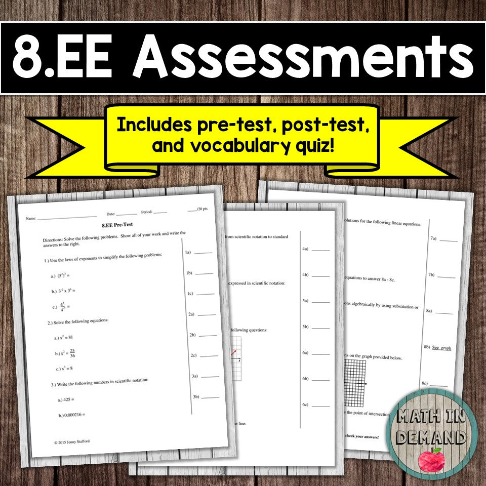 8.EE Assessment