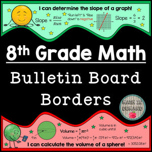 8th Grade Math Bulletin Board Borders