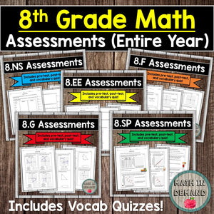 8th Grade Assessments (Entire Year)