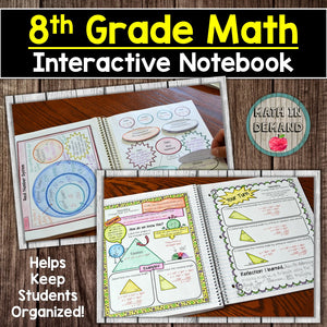 6th, 7th, and 8th Grade Math Interactive Notebook Bundle