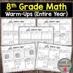 8th Grade Math Warm-ups