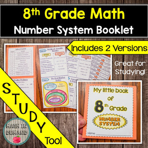 8th Grade Math Number System Booklet