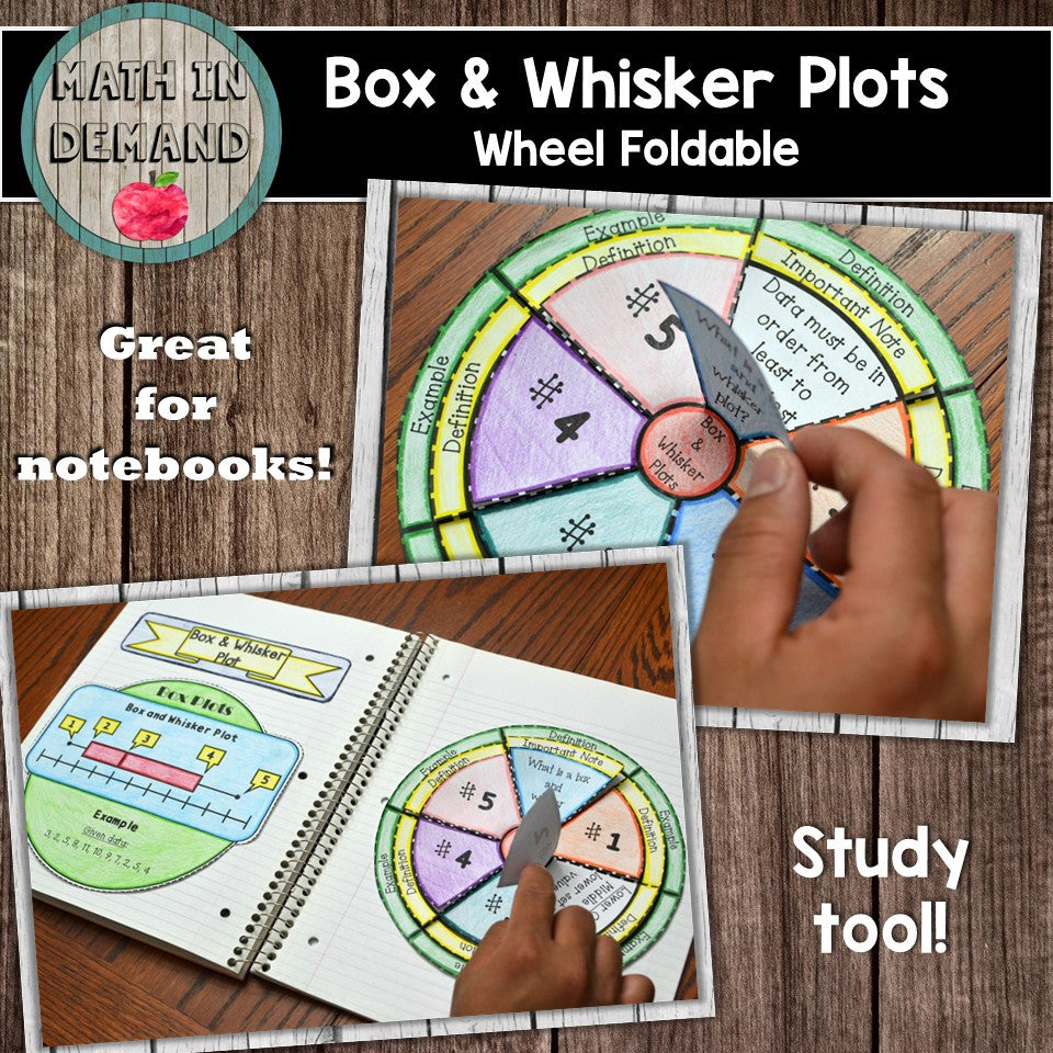 Box and Whisker Plot Wheel Foldable