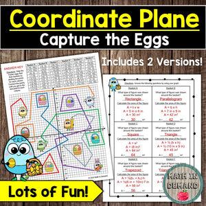 Area of Polygons in the Coordinate Plane Easter Version (Capture the Eggs)