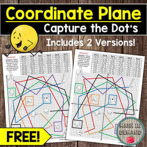 Coordinate Plane Activity (Capture the Dot's) FREE