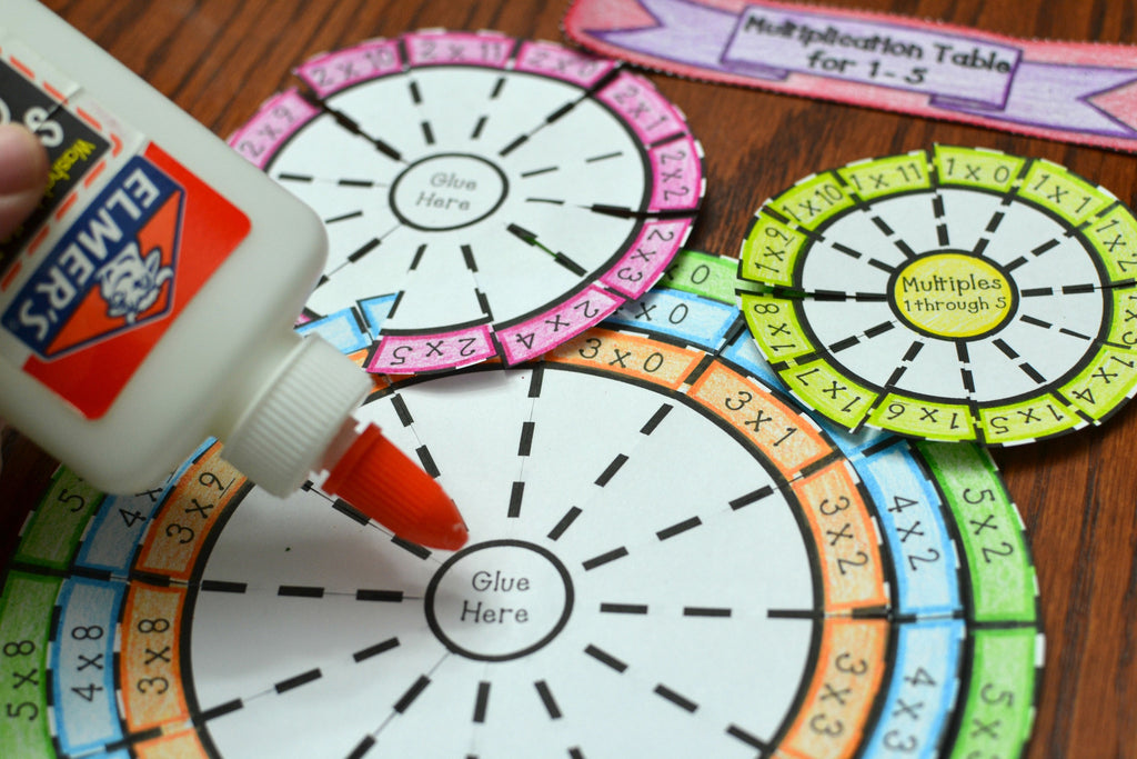 Multiplication Wheel Foldable Bundle (Times Table 1 Through 10)