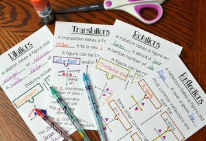 Transformations Booklets (Reflections, Rotations, Translations, and Dilations)