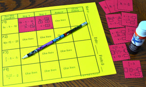 Two-Step Equations Card Sort Activity